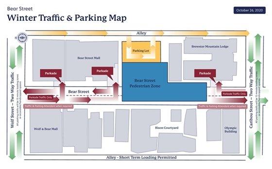 Winter Pedestrian Zone Map
