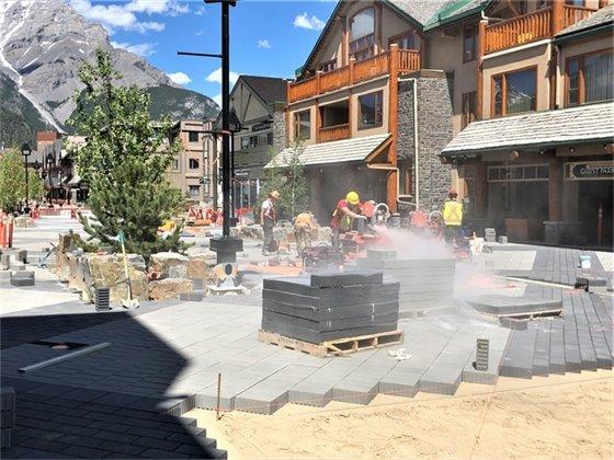 Photo - Cutting paver June 4