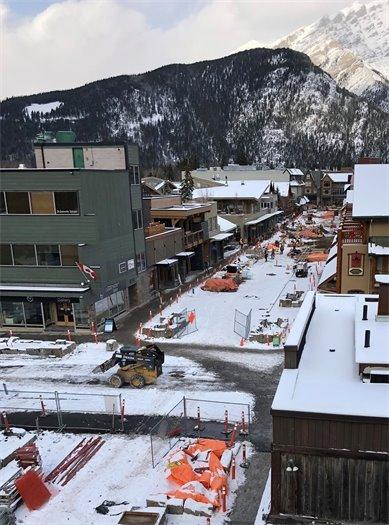 Aerial view of Bear Street this week