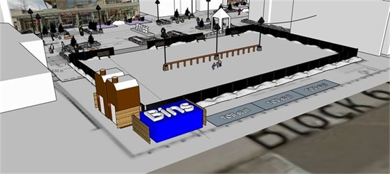 Plan for skating rink - image