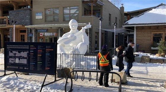 SnowDays sculpture and wayfinding map