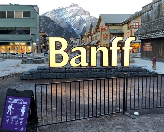Banff letters sign - photo