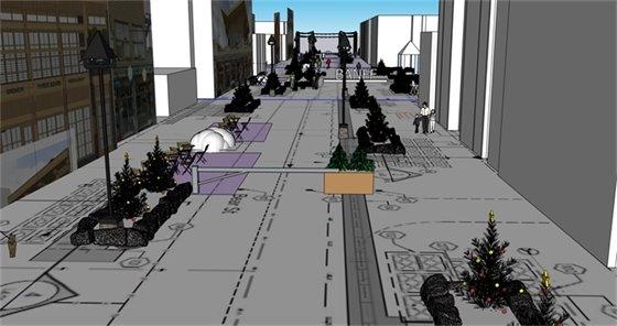 rendering of Bear Street