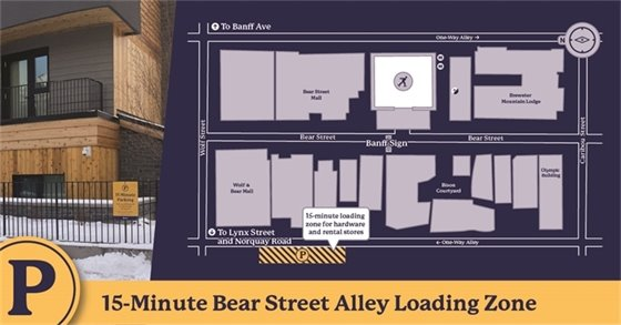 Alley loading zone map