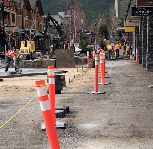 Photo: sidewalk work in front of Lole