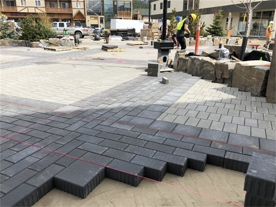 Photo - Block Pavers installed on Bear Street