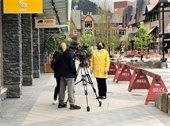 Photo - Mayor Sorensen media interview