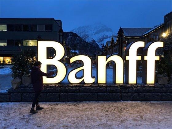 Banff sign on Bear St - image