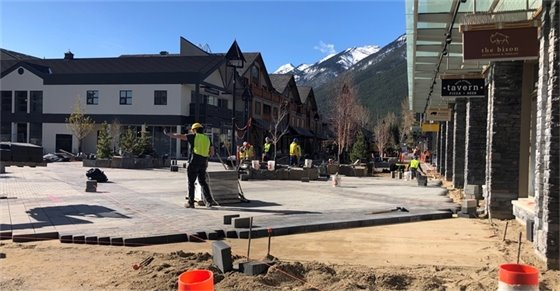 Photo - pavers installed