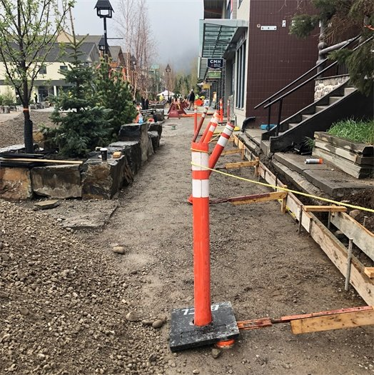 Photo - sidewalk preparation