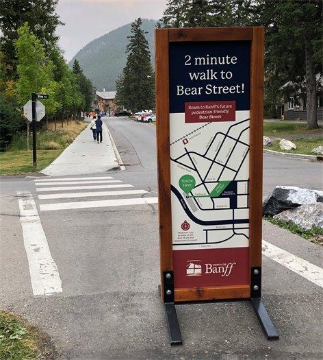 Bear Street promotion sign