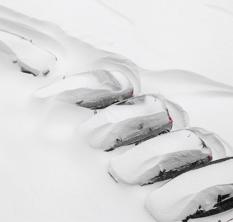 Snowed in cars