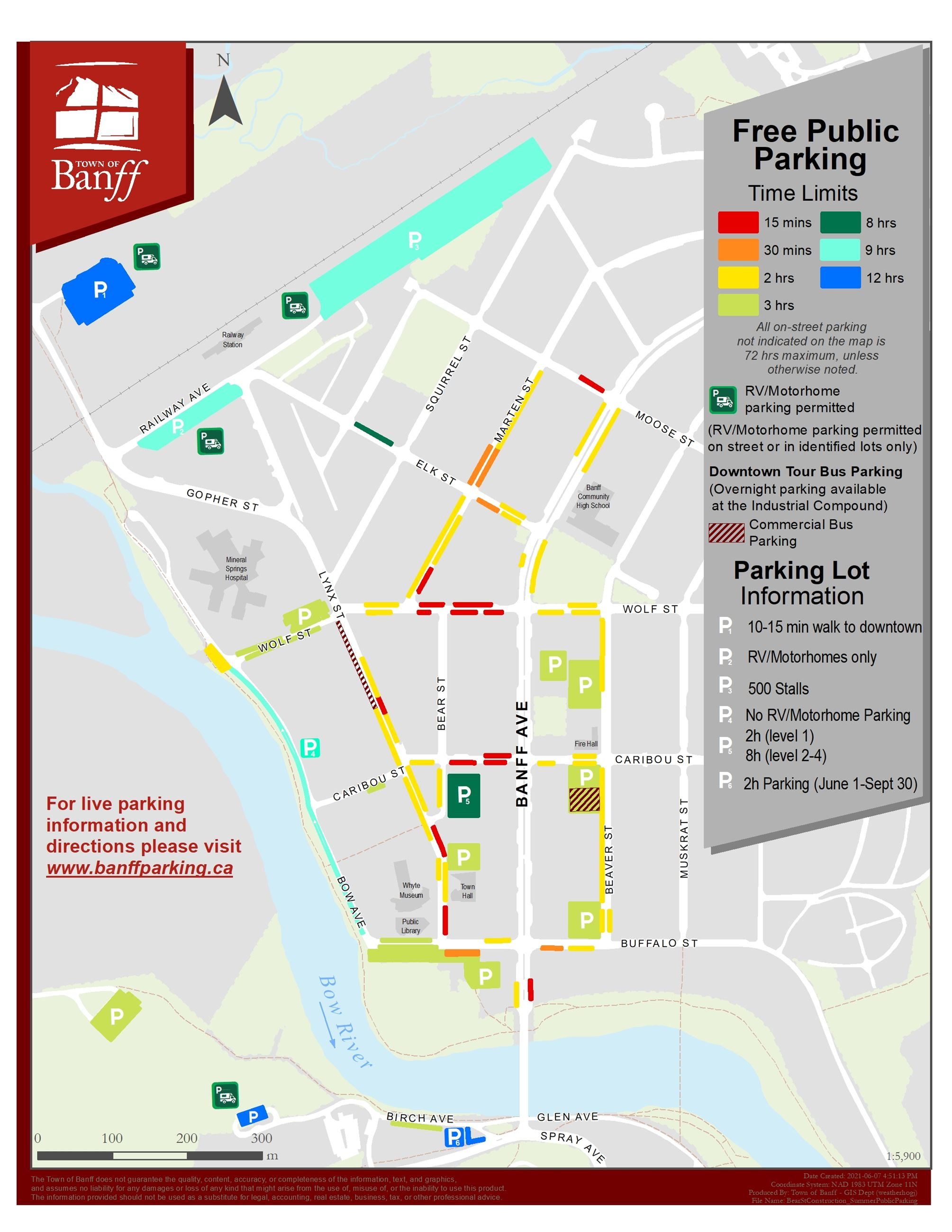 Summer Parking Map