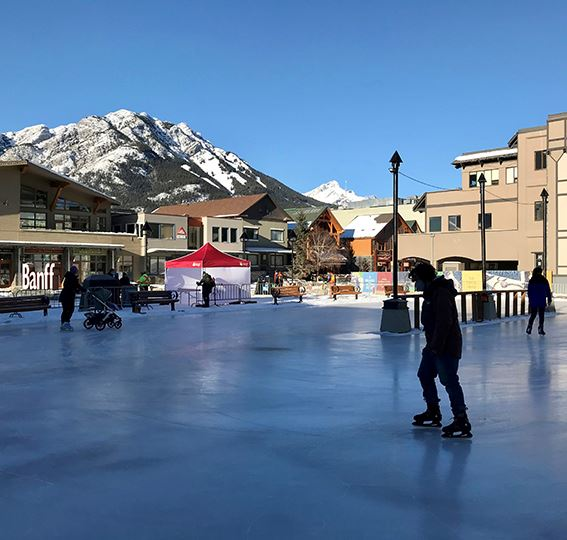Bear Street Rink with skaters
