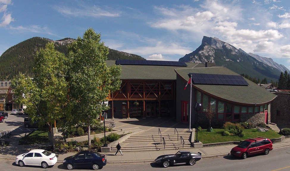 Banff Town Hall solar panels