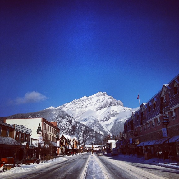 Downtown Banff in Winter