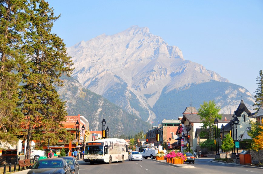 Town of Banff in Summer