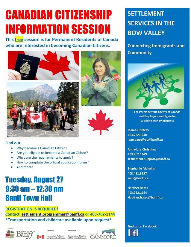 August 2019 - Canadian Citizenship Information Session