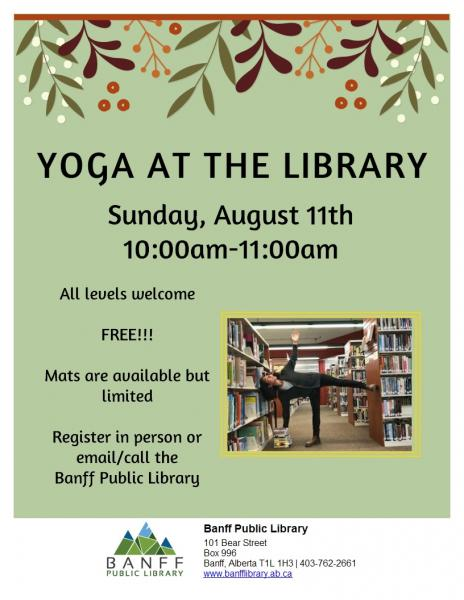 Yoga at the Library Poster