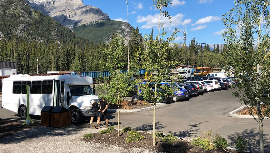 Banff Train Station Parking Lot