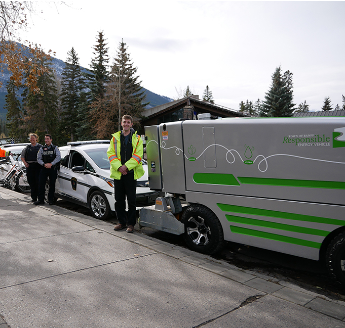 Green fleet REVs up in Banff
