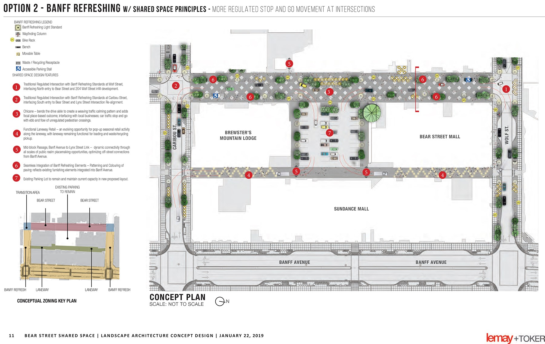Option 2 Banff Refreshing with Shared Space Principles (PDF) Opens in new window