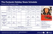 Holiday skating schedule