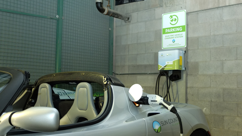 EV Charger in the Bear Street Parkade