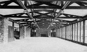 Interior Photograph of Frank Lloyd Wright Pavilion 1913